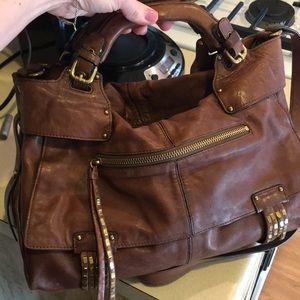 Kooba hailey leather satchel